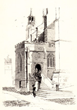Entrance to College Chapel, Eton