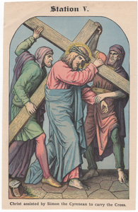 Christ assisted by Simon the Cyrenean to carry the Cross