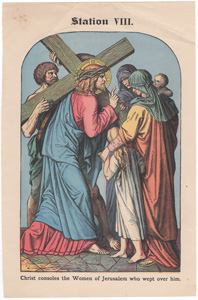 Christ consoles the Women of Jerusalem who wept over him