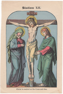 Christ is exalted on the Cross and dies