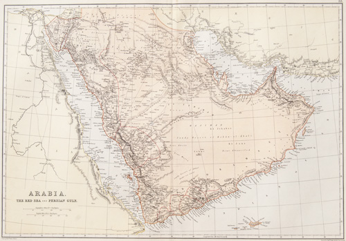 Arabia, The Red Sean and Persian Gulf 1882