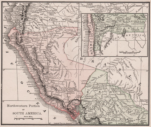 Northwestern Portion of South America 1891