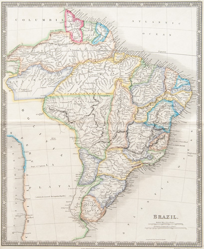 Brazil 1843 Teesdale Map