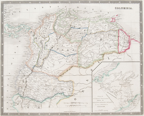 Columbia 1843 Teesdale Map