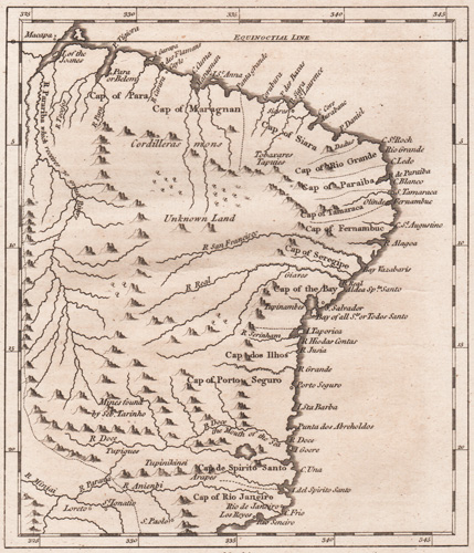 A Map of Brasil from the best Authorities by Mr. B. 1778