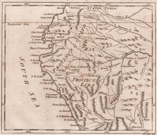 A Map of the North Part of Peru from the best Authorities by Mr. B. 1778