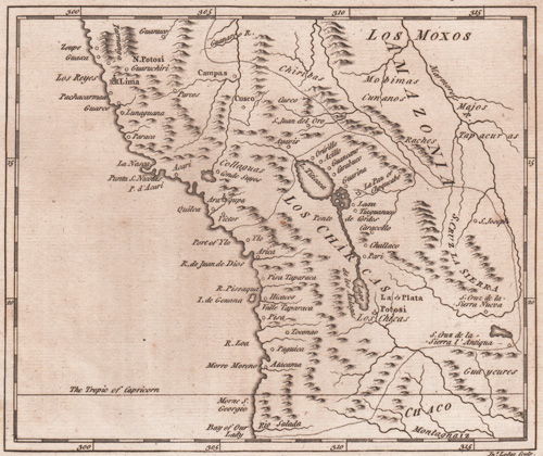 A Map of the South Part of Peru from the best Authorities by Mr. B. 1778