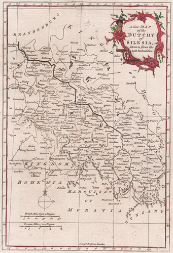 A New Map of the Dutchy of Silesia 1764