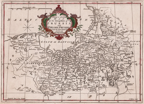 A New & Accurate Map of the Kingdom of Prussia and Polish Prussia 1764 map