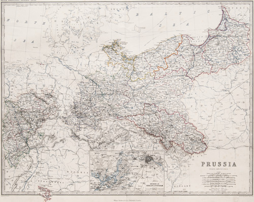 Prussia  [inset map of Berlin and Potsdam] 1861