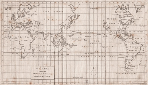 A Chart shewing The Track of the Centurion around the World 1742