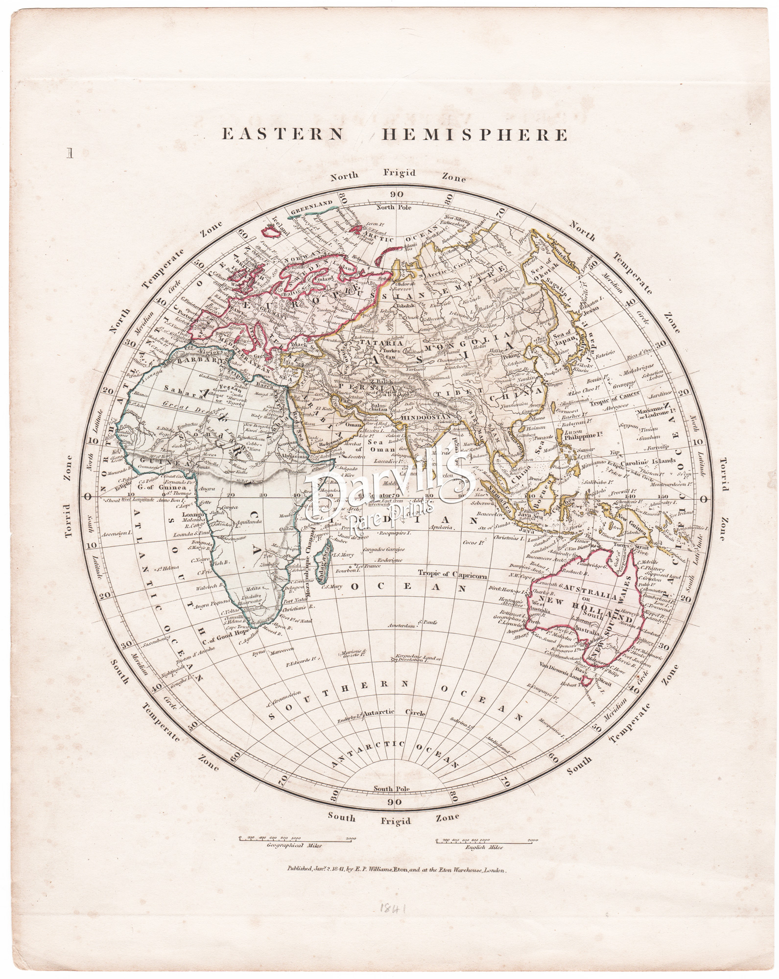 World Map Watermark.Antique Maps Of The World Continents Hemispheres And Comparison