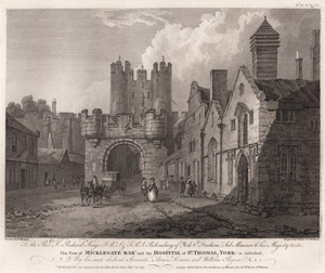 Micklegate Bar and the Hospital of St. Thomas, York