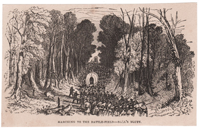 MARCHING TO THE BATTLE-FIELD --- BALL'S BLUFF