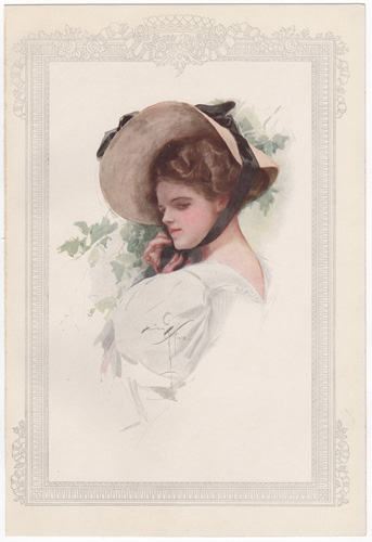 Bachelor Belles by Harrison Fisher (1908)