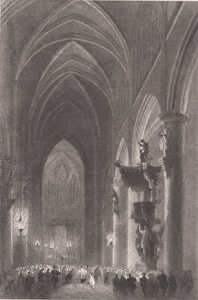 Interior of the Church of St. Gudule, Brussels