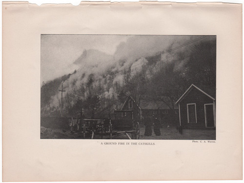 A ground fire in the Catskills