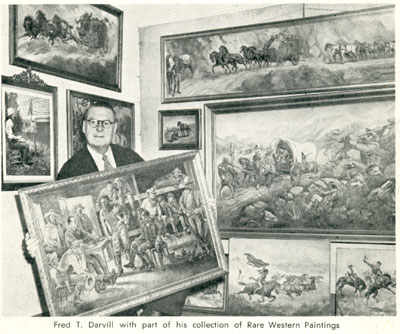 Fred T Darvill with his western art