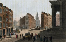 View of Cornhill, Lombard Street & Mansion House
