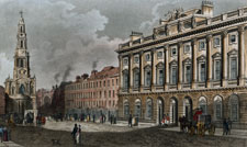 Somerset House and the New Church; Strand, taken from the Morning Post Office