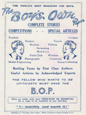 Advertisement for 'The Boy's Own Paper'