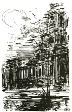 Preliminary study for London County Hall