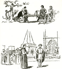 Sketches from the Book of the A. A. Play, 1909