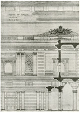 Detail of proposed museum, Bombay