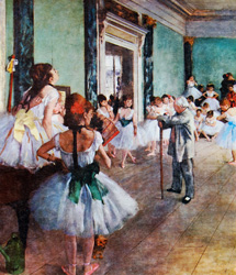TAKING THE BOW by Degas