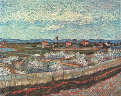 PEACH ORCHARD by Vincent Van Gogh