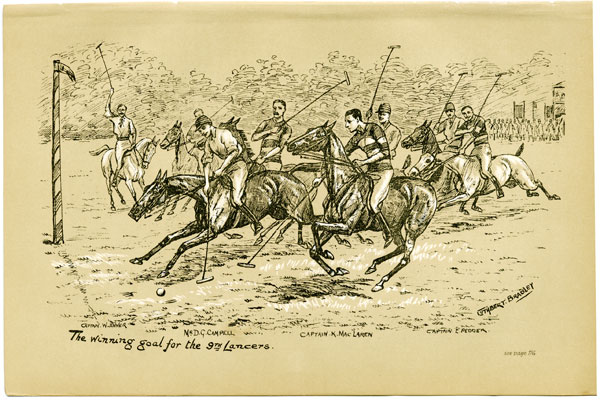 The winning goal for the 9th Lancers