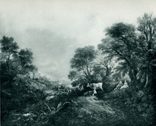 Gainsborough Landscape with cattle cows