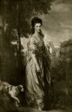 Gainsborough portrait of lady with dog