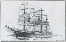Barque Pamir leaving the British Columbia Coast for New Zealand