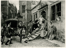 The Arrest of Voltaire and his Niece by Frederick's Order