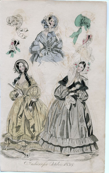 October 1839 women's fashions