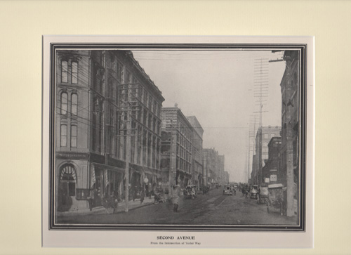 Second Avenue From the Intersection of Yesler Way