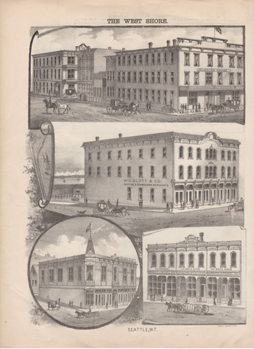 antique lithograph of Seattle, Washington Territory