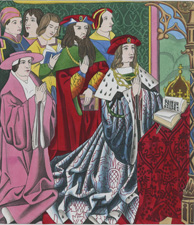 Henry the VI and his court