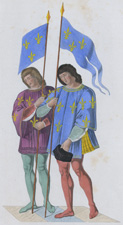 Heralds announcing the death of Charles 6th to his son