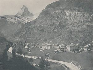 Antique photo-engravings of Switzerland from 1892