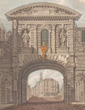 antique prints of the Temple Bar in London