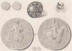 Seal, Coins, Brooch and Skull of King Robert Bruce