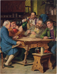 Pub, Tavern, Drinking, Playing Cards vintage prints