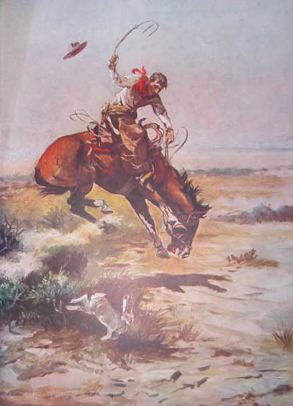 Charles Russell Bucking Bronco